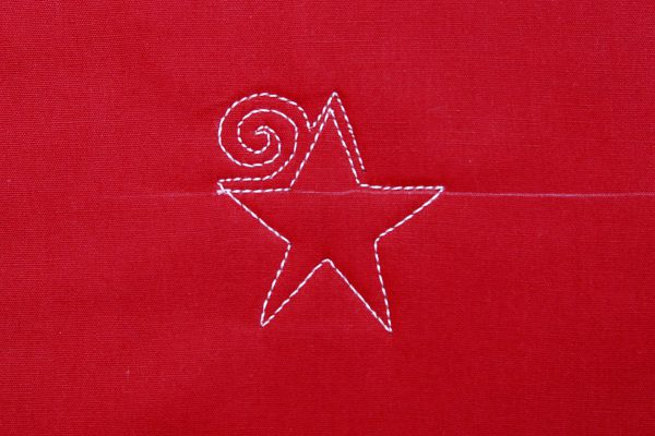 Free-motion Quilting tutorial stars and stripes - step five