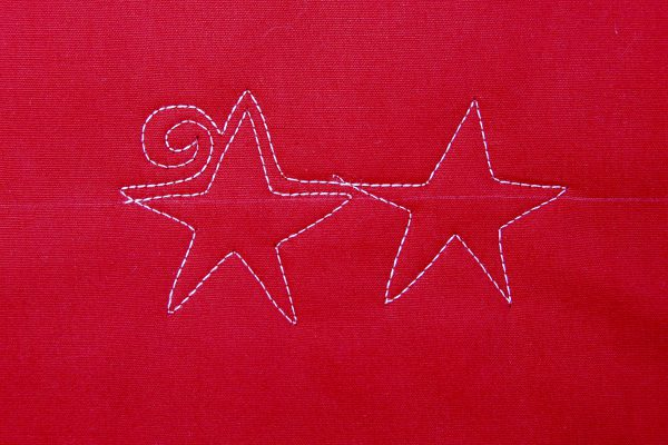 Free-motion Quilting tutorial stars and stripes - step seven
