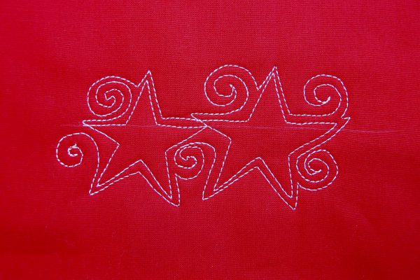 Free-motion Quilting tutorial stars and stripes - step eight