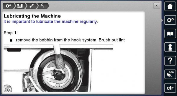 Hook Lubrication BERNINA 880