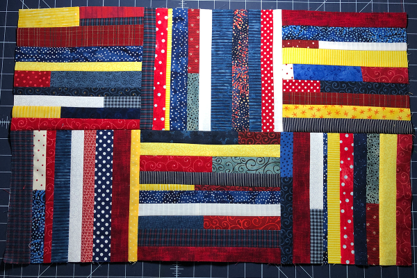 Red, White and Blue Star Banner Assemble Blocks