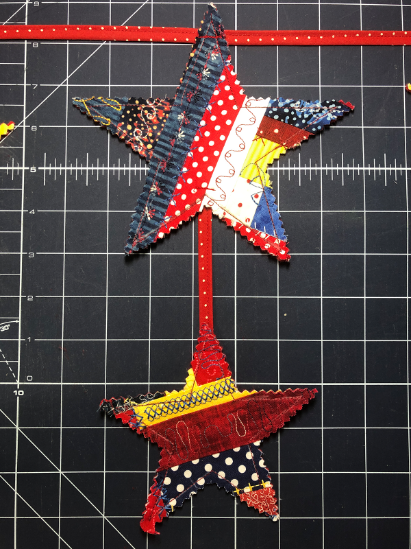 Red White and Blue Star Banner Attach the stars