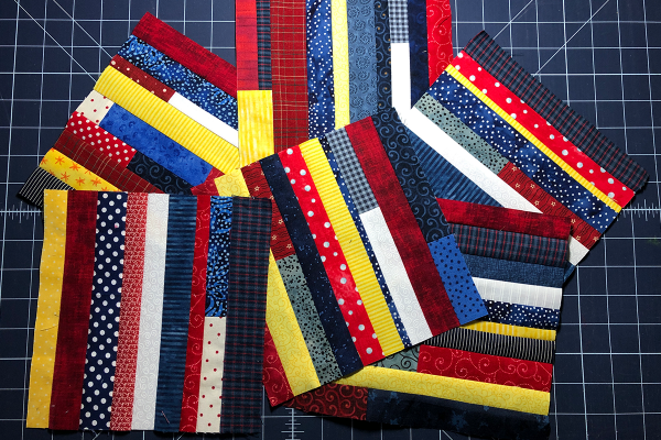 Red, White and Blue Star Banner Create Scrap Blocks