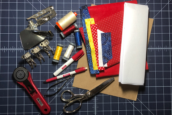Red, White and Blue Star Banner Materials