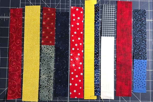Red, White and Blue Star Banner Materials Scraps