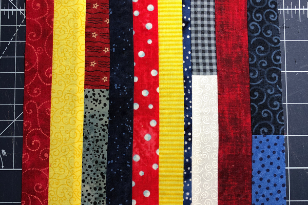Red, White and Blue Star Banner Trim Fabric Strips