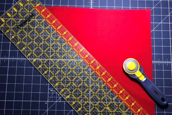 Red White and Blue Star Banner Tutorial Cutting