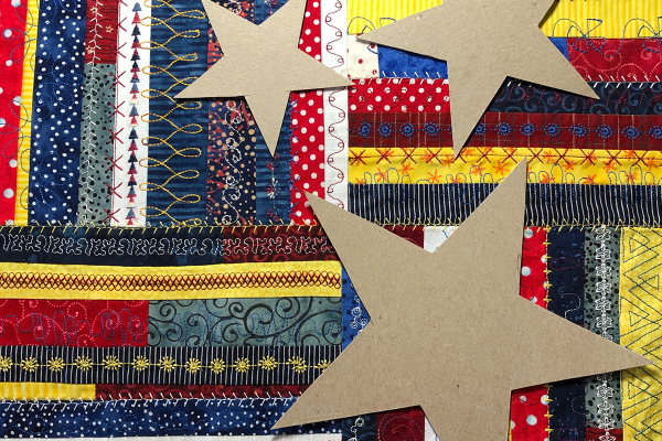 Red White and Blue Star Banner Tutorial Trace Stars