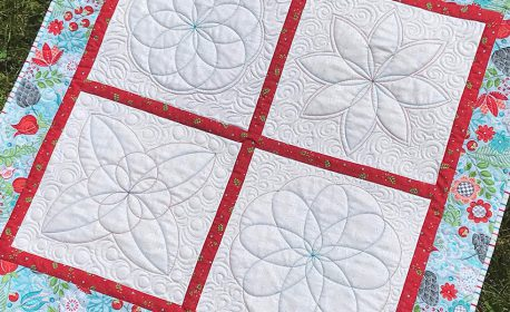 BERNINA Blossoms Quilt with Rulerwork