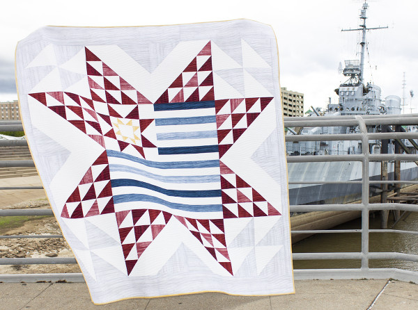 """Stars & Stripes"" Free Quilts of Valor (QOV) Pattern designed by Cherry Guidry from We All Sew"