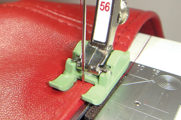 stitching leather with foot 56