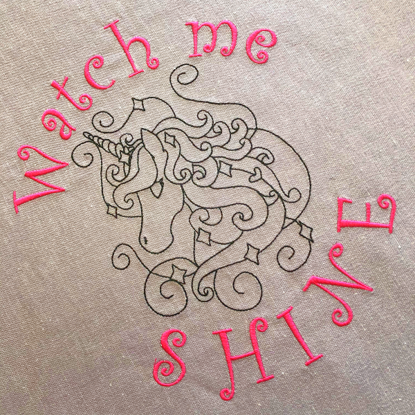 Embroidery Project - Word_Art_B_880_Plus_watch_me_shine
