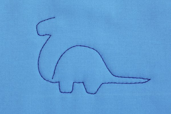 How to Free-motion Quilt Dinosaurs, step four