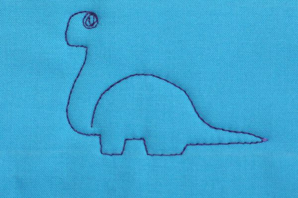 How to Free-motion Quilt Dinosaurs, step five