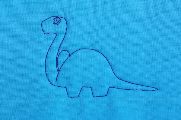How to Free-motion Quilt Dinosaurs, step seven