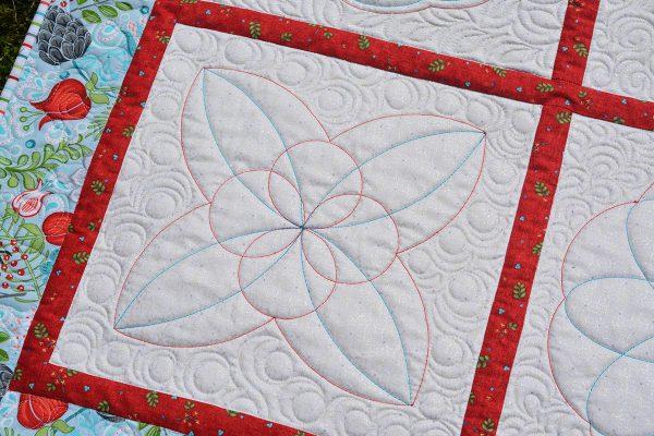 Block 3 of the BERNINA Blossoms Quilt Sampler