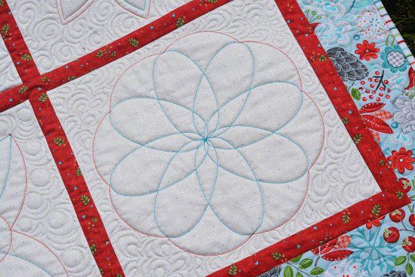 Block 4 of the BERNINA Blossoms Quilt Sampler