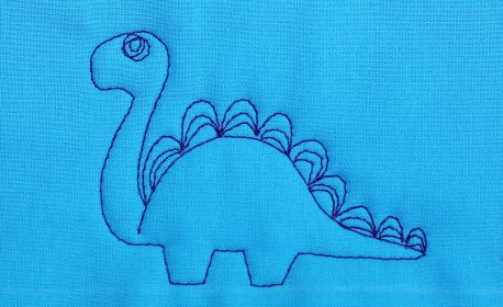 How to Free-motion Quilt Dinosaurs WeAllSew