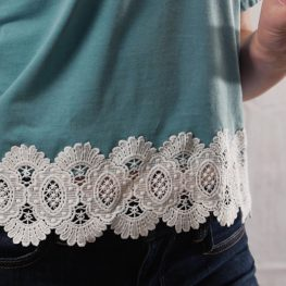 Upcycled Lace Hem T-shirt