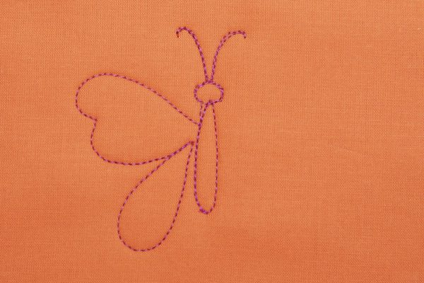 How to Free-motion Quilt a Butterfly - step five