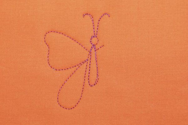 How to Free-motion Quilt a Butterfly - step six