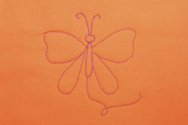 Free-motion Quilted Butterfly