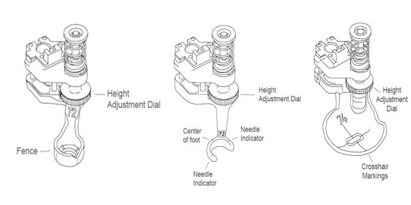 Height Adjustment Dials