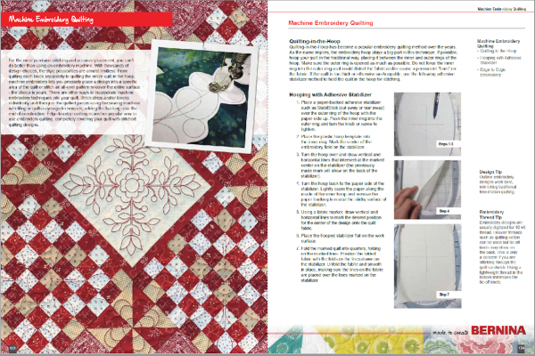 Machine Embroidery Quilting pages