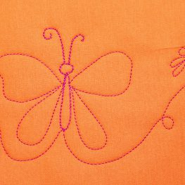 Free-motion Quilting Butterfly Tutorial
