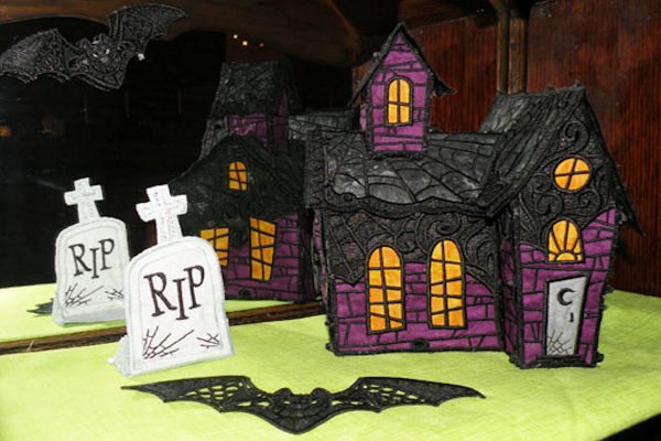 Embroidered Haunted House