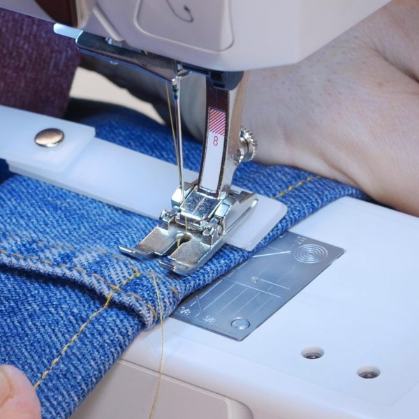 How to easily hem Jeans - height compensation tool