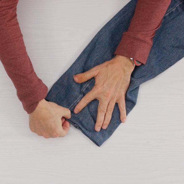 How to easily hem Jeans - hem ready to sew