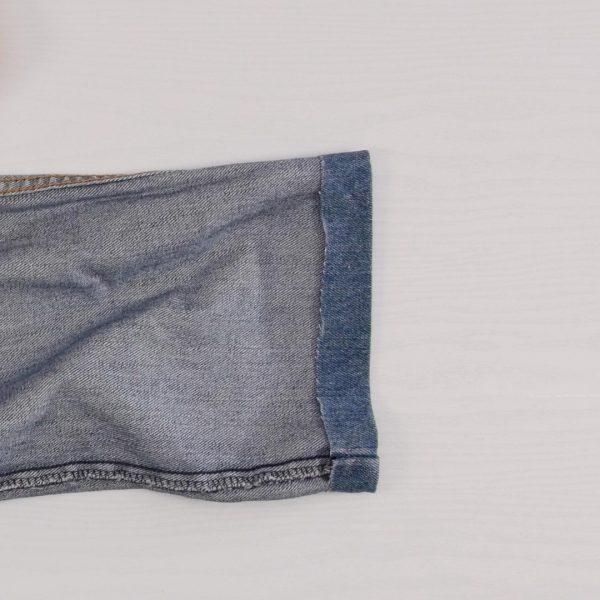 How to easily hem Jeans - trimmed hem