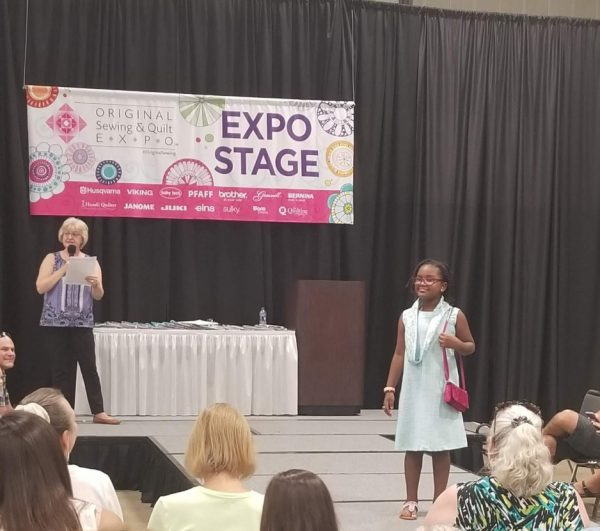 Paris entered the Sewing & Quilt Expo's design competition