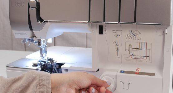 BERNINA L 850 easily threads specialty threads