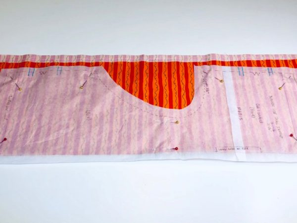 Matching Fabric Pattern Tutorial: mark pattern for matching stripes