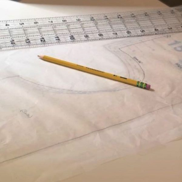 Reversible Bloomer Tutorial: tracing the pattern