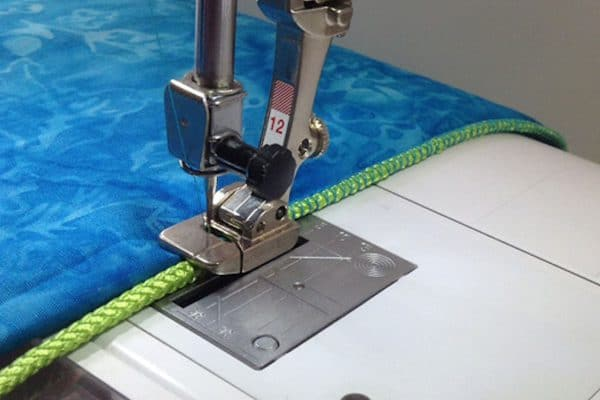 couched edge using Bulky Overlock Foot #12