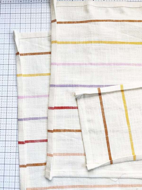 Embroidery Dish Cloth Tutorial: Preparing the fabric for sewing