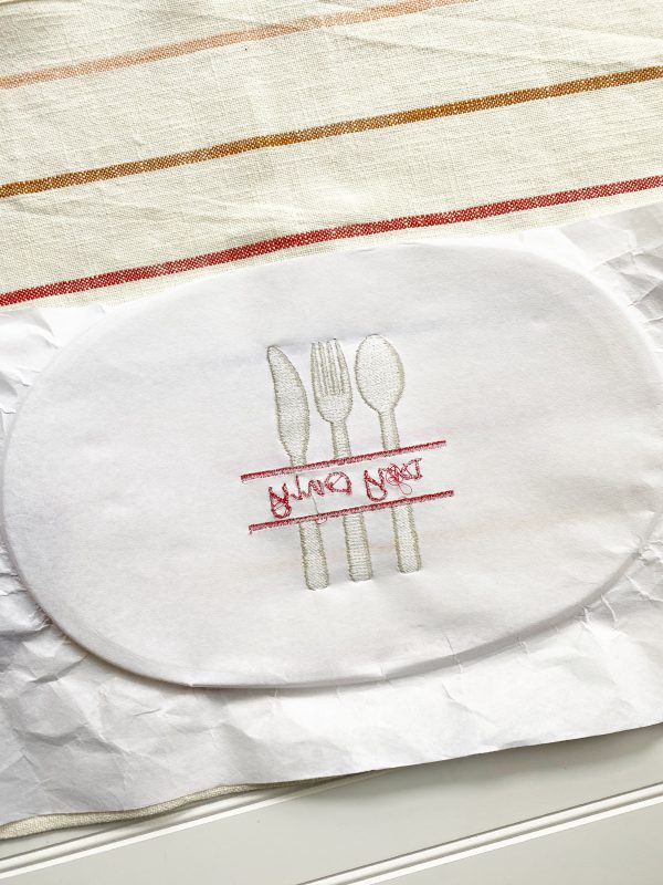 Embroidery Dish Cloth Tutorial: Unhoop and clean up the embroidered dish cloth