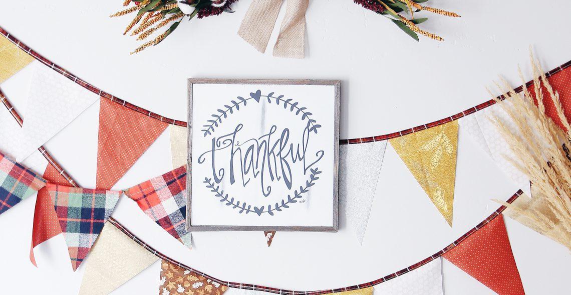 Thanksgiving Bunting Tutorial