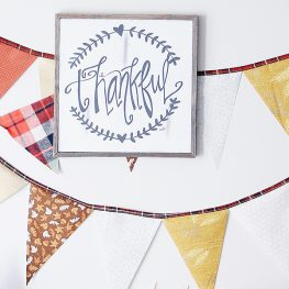 Thanksgiving Bunting tutorial