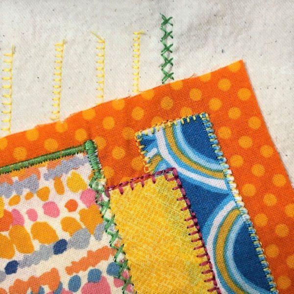 Appliqued Bib Burp Cloth Set Tutorial: applique practice sampler