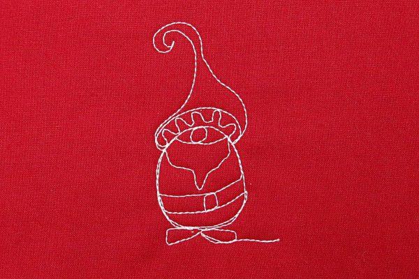 machine quilt gnome motif 10