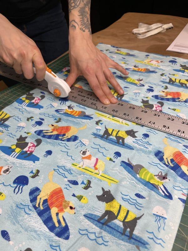 Reusable Towels Tutorial: Cut Fabric Closeup