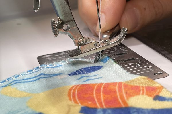 Reusable Towels Tutorial: Pivot fabric step two