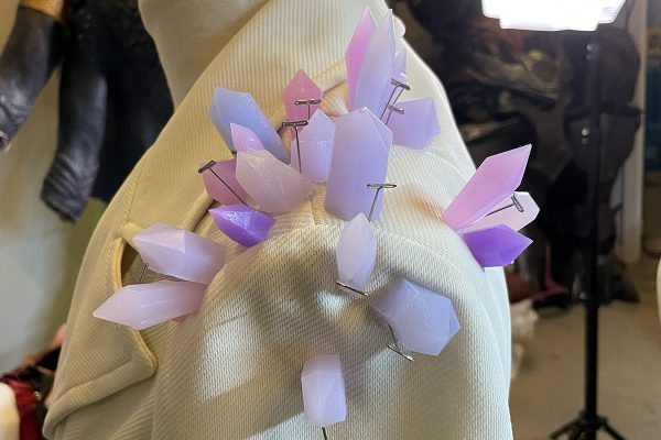 Silicone Embellishments: Glue Silicone Crystals to Jacket