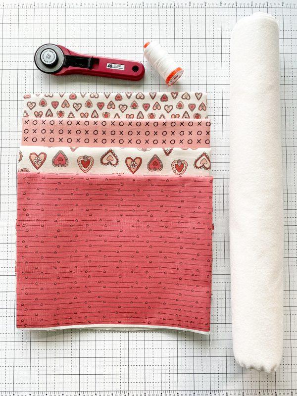Valentine Mug Rugs: Materials