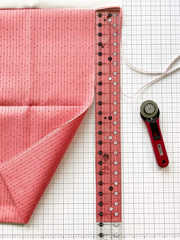 Valentine Mug Rugs: Cut the fabric