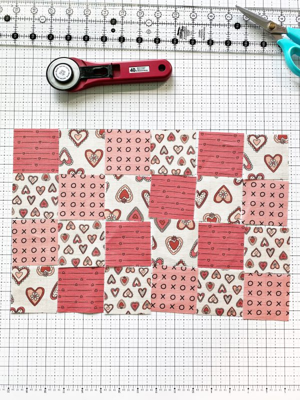 Sew the squares together